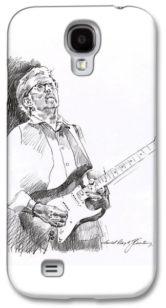 Icons Drawings Galaxy S4 Cases - Eric Clapton Joy Galaxy S4 Case by David Lloyd Glover