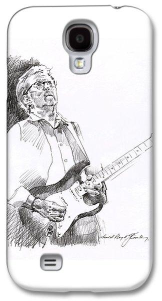 Icon Drawings Galaxy S4 Cases - Eric Clapton Joy Galaxy S4 Case by David Lloyd Glover