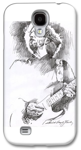 Drawing Galaxy S4 Cases - Eric Clapton Sustains Galaxy S4 Case by David Lloyd Glover
