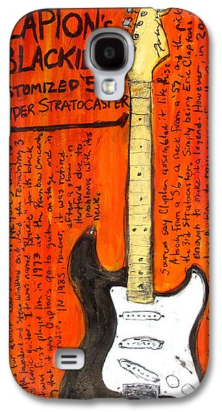 Eric Claptons Stratocaster Blackie Galaxy S4 Case by Karl Haglund
