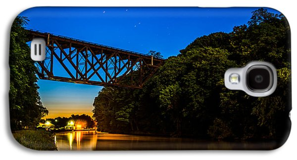 Transportation Photographs Galaxy S4 Cases - Erie Twilight Galaxy S4 Case by Chris Bordeleau