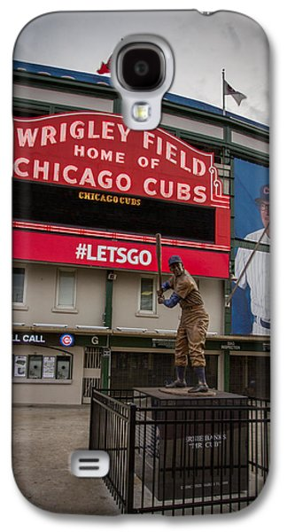 Sports Photographs Galaxy S4 Cases - Ernie Banks Wrigley Field Galaxy S4 Case by Mike Burgquist