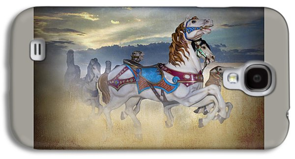 Escape Of The Carousel Horses Galaxy S4 Case by Brian Wallace