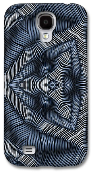 Blue Abstracts Galaxy S4 Cases - Escheresque in C Galaxy S4 Case by John Edwards
