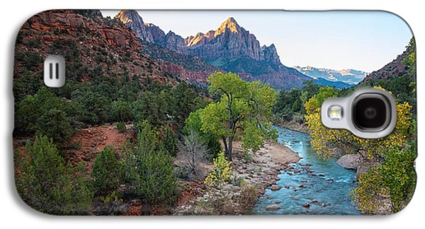 Sunrise At The Watchman - Zion National Park - Utah Galaxy S4 Case by Brian Harig