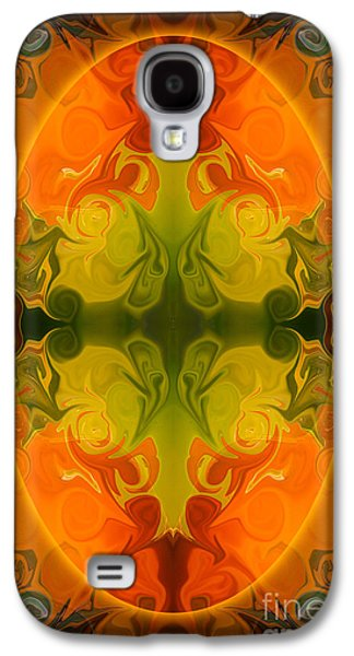Digital Glass Galaxy S4 Cases - Eternal Energies Abstract Mandala Art by Omashte Galaxy S4 Case by Omaste Witkowski