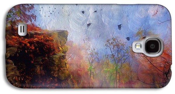 Mystical Landscape Mixed Media Galaxy S4 Cases - Ethereal Autumn Galaxy S4 Case by Georgiana Romanovna