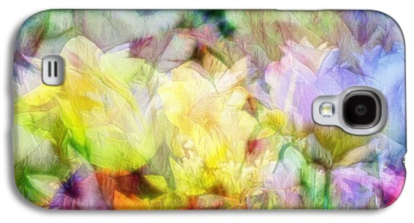 Colorful Abstract Galaxy S4 Cases - Ethereal Flowers Galaxy S4 Case by Kiki Art