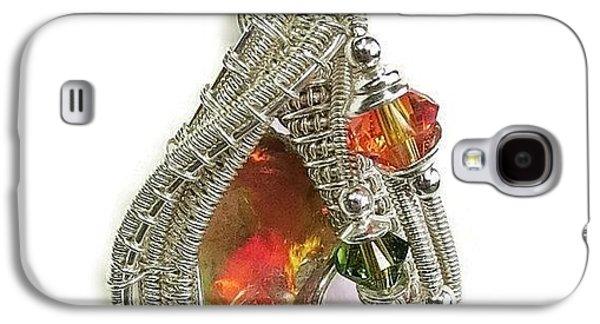 Jordan Jewelry Galaxy S4 Cases - Ethiopian Welo Opal and Swarovski Crystal Pendant in Sterling Silver WEOPSS1 Galaxy S4 Case by Heather Jordan
