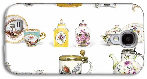 Ceramic Mixed Media Galaxy S4 Cases - European Art European Pottery - Meissen Porcelain Galaxy S4 Case by Celestial Images