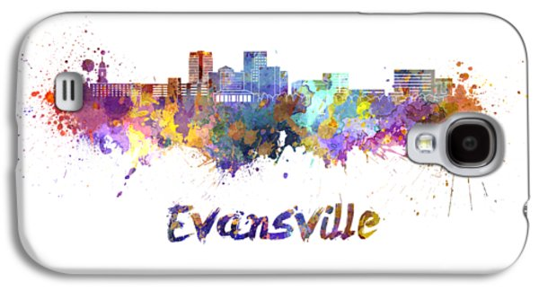 Evansville Skyline In Watercolor  Galaxy S4 Case by Pablo Romero