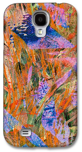 Abstract Digital Mixed Media Galaxy S4 Cases - Evaporation Galaxy S4 Case by Laura L Leatherwood