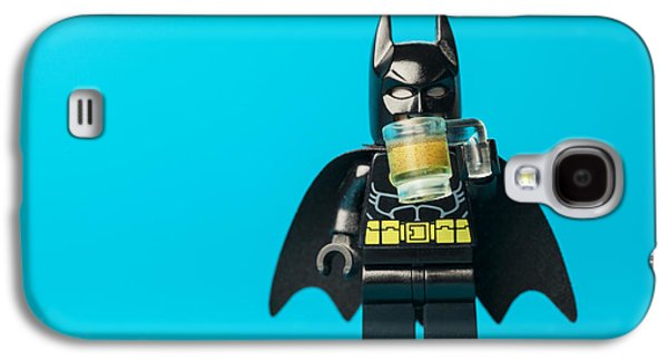 Crime Fighter Galaxy S4 Cases - Even Batman needs a beer Galaxy S4 Case by Samuel Whitton