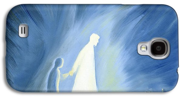 Religious Galaxy S4 Cases - Even in the darkness of out sufferings Jesus is close to us Galaxy S4 Case by Elizabeth Wang
