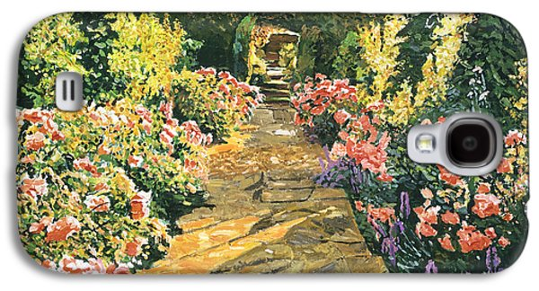 Gardenscapes Galaxy S4 Cases - Evening Garden Sussex England Galaxy S4 Case by David Lloyd Glover