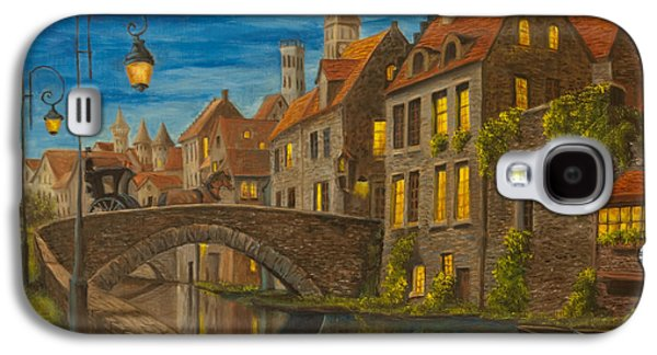 Painter Photo Galaxy S4 Cases - Evening in Brugge Galaxy S4 Case by Charlotte Blanchard