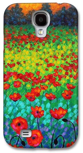 Evening Poppies Galaxy S4 Case by John  Nolan
