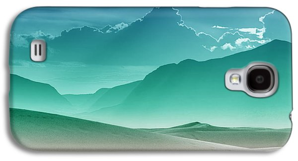 Abstract Landscape Galaxy S4 Cases - Evening Stillness - White Sands - Duvet in Sea Gradient Galaxy S4 Case by Nikolyn McDonald