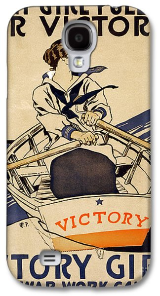 Wwi Paintings Galaxy S4 Cases - Every girl pulling for victory WWI poster Galaxy S4 Case by Celestial Images