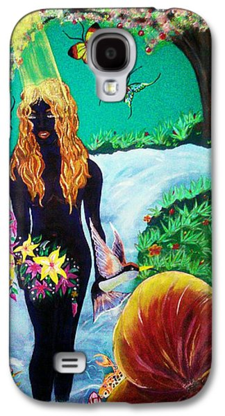 Religious Tapestries - Textiles Galaxy S4 Cases - Eves Garden Galaxy S4 Case by Raine Peeler-Trice-Maupins