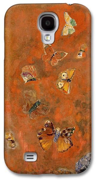 Evocation Of Butterflies Galaxy S4 Case by Odilon Redon