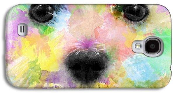 Puppy Digital Art Galaxy S4 Cases - Ex White Galaxy S4 Case by Carlos Vieira