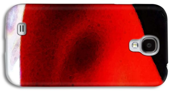 Red Abstract Digital Galaxy S4 Cases - Experiment 2 Red White Black Galaxy S4 Case by Sharon Cummings