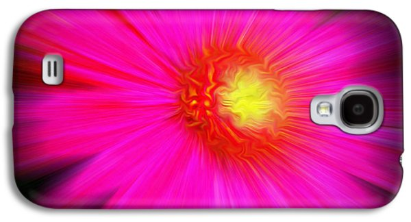 Abstract Nature Galaxy S4 Cases - Exploding Flower  Galaxy S4 Case by Adri Turner