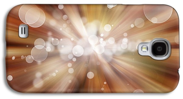 Atomic Galaxy S4 Cases - Explosive background  Galaxy S4 Case by Les Cunliffe
