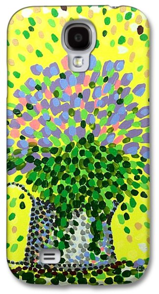 Pointillist Paintings Galaxy S4 Cases - Explosive Flowers Galaxy S4 Case by Alan Hogan