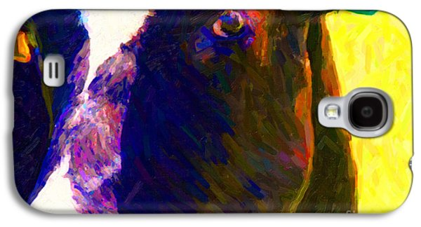 Cow Digital Galaxy S4 Cases - Eye of Cow 783 . Photoart Galaxy S4 Case by Wingsdomain Art and Photography