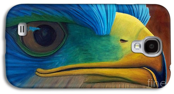 Eagle Paintings Galaxy S4 Cases - Eye on the Prize Galaxy S4 Case by Brian  Commerford