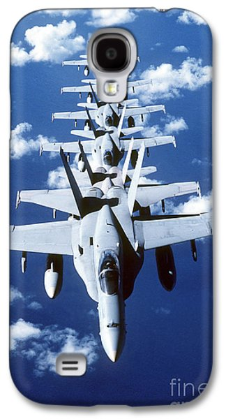Vertical Flight Galaxy S4 Cases - Fa-18c Hornet Aircraft Fly In Formation Galaxy S4 Case by Stocktrek Images