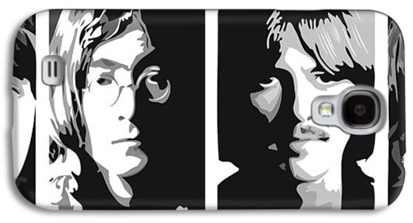 Beatles Galaxy S4 Cases - Fab Four Galaxy S4 Case by Randy Flook