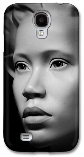African-american Galaxy S4 Cases - Face In The Darkness Galaxy S4 Case by Melissa Bittinger