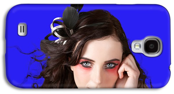 Face Of A Female Beauty With Red Eye Make Up Galaxy S4 Case by Jorgo Photography - Wall Art Gallery