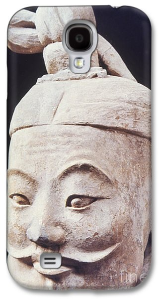 Statue Portrait Galaxy S4 Cases - Face of a Terracotta Warrior Galaxy S4 Case by Heiko Koehrer-Wagner