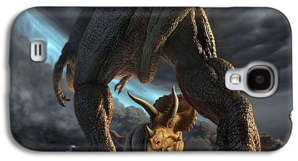 Fight Digital Art Galaxy S4 Cases - Face Off Galaxy S4 Case by Jerry LoFaro