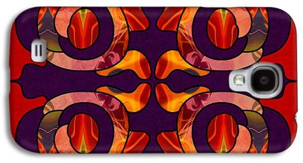 Facing Darkness Abstract Art By Omashte Galaxy S4 Case by Omaste Witkowski