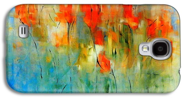 Nature Abstracts Galaxy S4 Cases - Faded Warm Autumn Wind Galaxy S4 Case by Lisa Kaiser