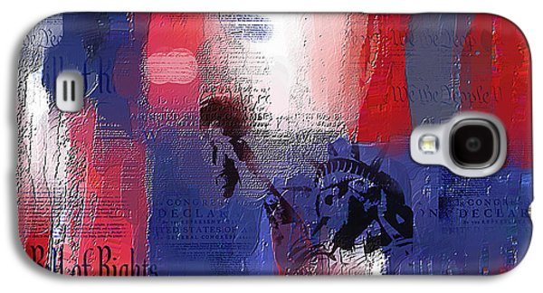 Declaration Of Independence Paintings Galaxy S4 Cases - Fading Freedom Galaxy S4 Case by Phil Hansen