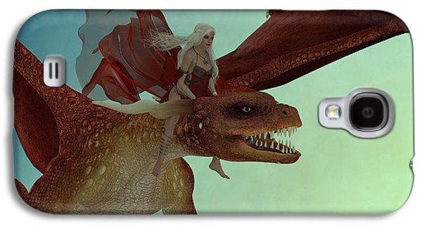 Fairy Rides Dragon Galaxy S4 Case by Corey Ford