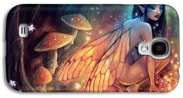 Mushroom Digital Art Galaxy S4 Cases - Fairydust Nest Galaxy S4 Case by Caroline Jamhour