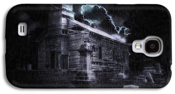 Headstones Galaxy S4 Cases - Faith and Fury Galaxy S4 Case by Tom Mc Nemar