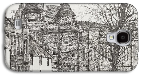 Street Drawings Galaxy S4 Cases - Falkland Palace Galaxy S4 Case by Vincent Alexander Booth