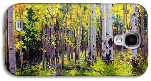 Fall Aspen Forest Galaxy S4 Case by Gary Kim