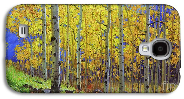 Aspen Galaxy S4 Cases - Fall Aspen Hill  Galaxy S4 Case by Gary Kim