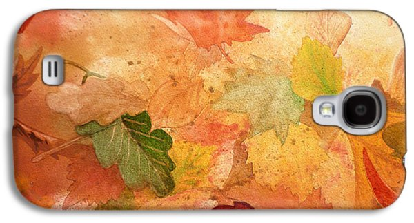 Maple Season Paintings Galaxy S4 Cases - Fall Impressions IV Galaxy S4 Case by Irina Sztukowski
