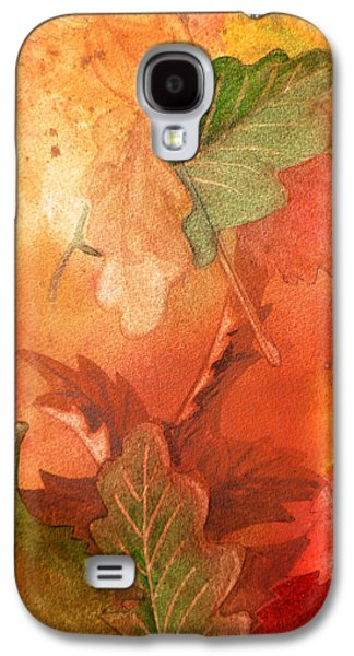 Maple Season Paintings Galaxy S4 Cases - Fall Impressions V Galaxy S4 Case by Irina Sztukowski