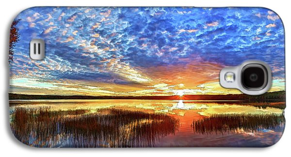 Bill Caldwell Galaxy S4 Cases - Fall Sunset at Round Lake Panorama Galaxy S4 Case by Bill Caldwell -        ABeautifulSky Photography